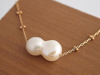 K10 Twin Pearl Necklaceの画像