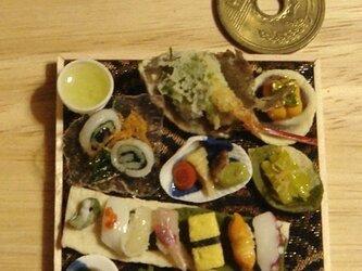 ★カレイの姿揚げ&にぎり寿司和の御膳【金襴織り】の画像