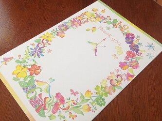 【サンクスカード/5枚セット】喜びの花時計の画像