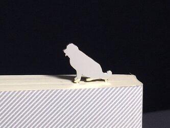 Dog-BookMark-23 セントバーナード シルバーブックマーク しおりの画像