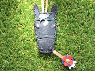 【オーダー】愛馬のキーカバー 青毛・ブラックの画像