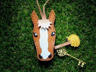 【オーダー】愛馬のキーカバー 栗毛・キャメルの画像
