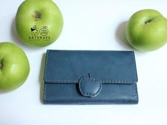 リンゴのロングウォレット・Apple Pip アップルピップ ブルーの画像