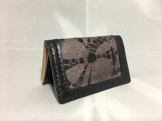 巻き上げ絞りのカードケース(受注製作)の画像