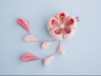 ぽてっと可愛い小梅さんの髪飾り♡ピンク かんざし つまみ細工 梅 着物 和小物 浴衣の画像