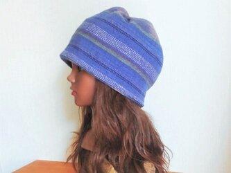 CAP:Thai cotton - ethnic blueの画像