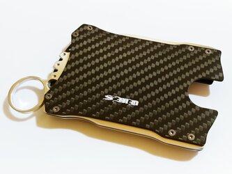 【カードケース&ウォレット】落ち着いたマットカーボン製 / プレゼントにもの画像