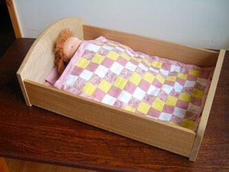 お人形ベッド(お布団と枕付き)・・オーダー制作品の画像