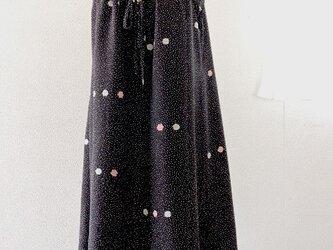 着物リメイク:黒の水玉キャミワンピースの画像