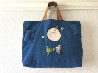 受注制作★Lesson bag【絵本袋】デニくまの画像