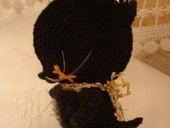 お眠りネコミシリちび黒猫ちゃんのバッグチャーム*(小)の画像