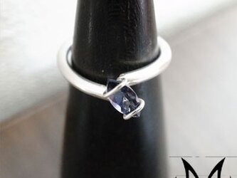 Clutch Marquise Ring:銀925アメジストマーキスリング(御影宝飾工房)の画像