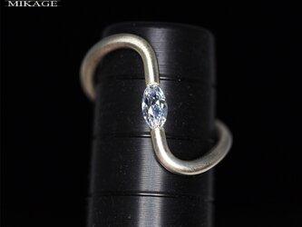 Swirl Marquise Ring:銀925マーキスリング(御影宝飾工房)の画像
