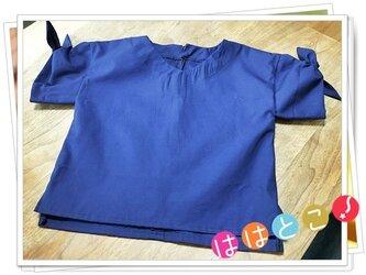 袖リボンシャツ【130】の画像