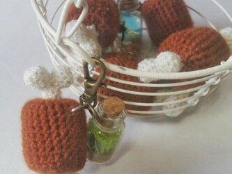 気分屋編み雑貨【肉と小瓶】の画像