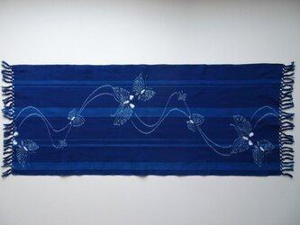 手織り久留米絣:蝶のテーブルセンター(T-8)の画像