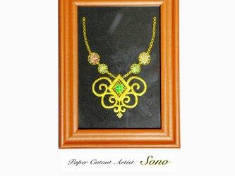 四つ葉のクローバーのネックレス(金)の画像