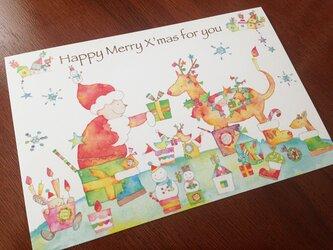 【サンクスカード/5枚セット】Happy Happy クリスマス!の画像