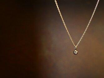 【送料無料】ローズカットダイヤモンド一粒ネックレス【n_k14_03_0001】の画像