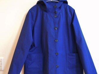 フード付きジャケット (ブルー)の画像