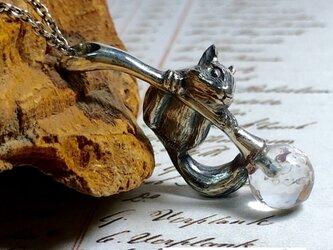 秋のリスのネックレス 0.8cm水晶の画像