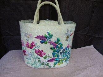 viable flowers bag*咲き誇る花たちのバッグの画像