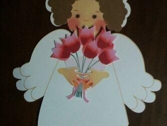 多目的カード 天使と花束の画像