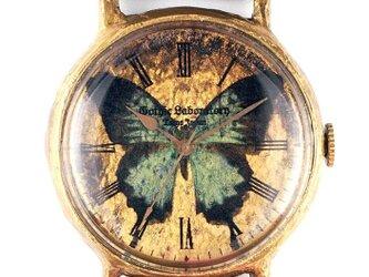 オオルリアゲハの腕時計 Classic Wristwatch blue butterfly LLサイズの画像