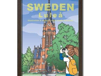 ポスターA3サイズ オレンジの大聖堂/(スウェーデン・ルレオ)の画像