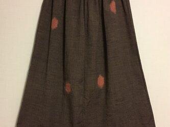 【再値下げ】着物リメイク ウールのギャザースカートの画像