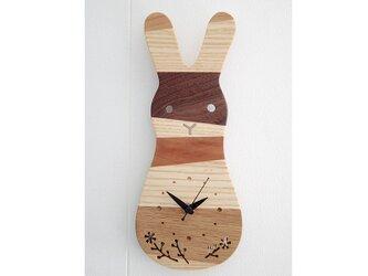 時計 森の記憶 rabbitの画像