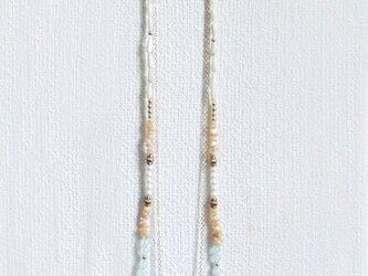 shell necklace【アクアブルー】の画像