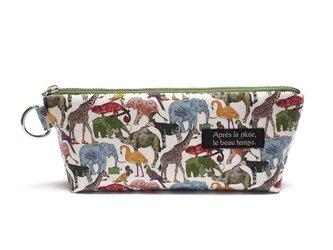 ペンケース size-L リバティ Queue for the Zooの画像