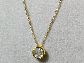宝石質ホワイトトパーズベセルチャームネックレス(6ミリ)の画像