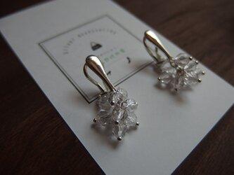 【silver925】輝く水晶のつぶつぶイヤリングの画像