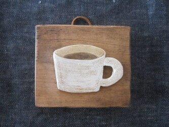 コーヒー 壁かざりの画像