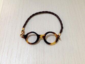 「わたしメガネ好き」アピール用ブレスレットべっ甲カラーの画像