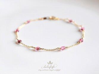 アンティークピンクブレスレット~宝石質ピンクトルマリンの画像