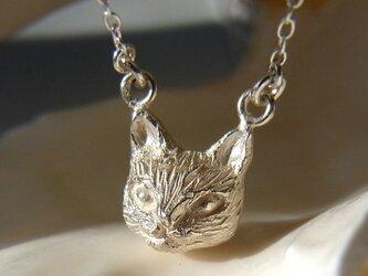 【受注生産】ネコのネックレス(SV925、メッキオーダー)の画像