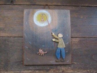 灯り持ち 壁かざりの画像