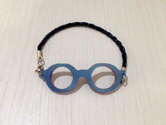 「わたしメガネ好き」アピール用ブレスレットネイビーカラーの画像