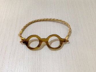 「わたしメガネ好き」アピール用ブレスレットキャメルカラーの画像