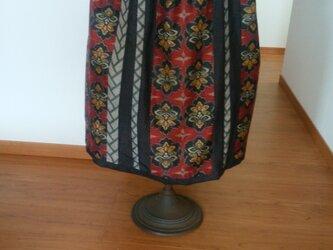 かわいい大島紬のスカート ー 今回限りの二割引の画像