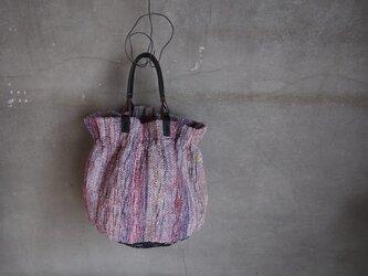 裂き織り/ ひらひら tsubo-mi バッグ  (+orimi)の画像