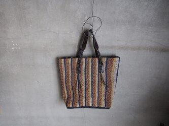 裂き織り/縦じま二フィッシュボーンノカバン (+orimi)の画像