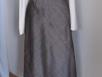 大島紬のフレアースカートの画像