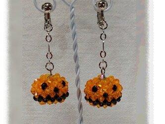 NO816◇ハロウィン かぼちゃ イヤリングorピアスの画像