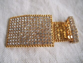 ラインストーン飾りのバックル用金具(オーナメント)の画像