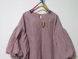 春色ボリューム袖ブラウス(ピンク)の画像