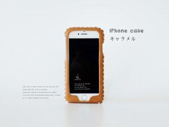 iPhone XR/Xs/X 全機種対応 iPhone各種レザーケース(キャラメル)の画像